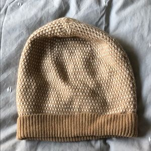 J. CREW Stylish Factory Crew Sweater Beanie Tan